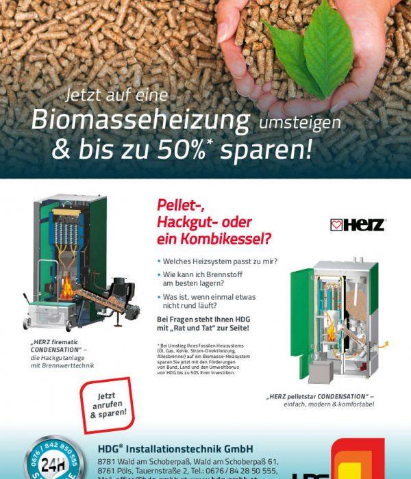 Biomasse-Aktion mit unserem Lieferanten der Herz Energietechnik GmbH