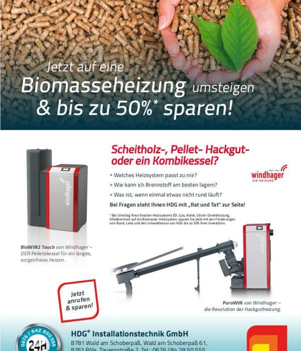Biomasse-Aktion mit unserem Lieferanten Windhager